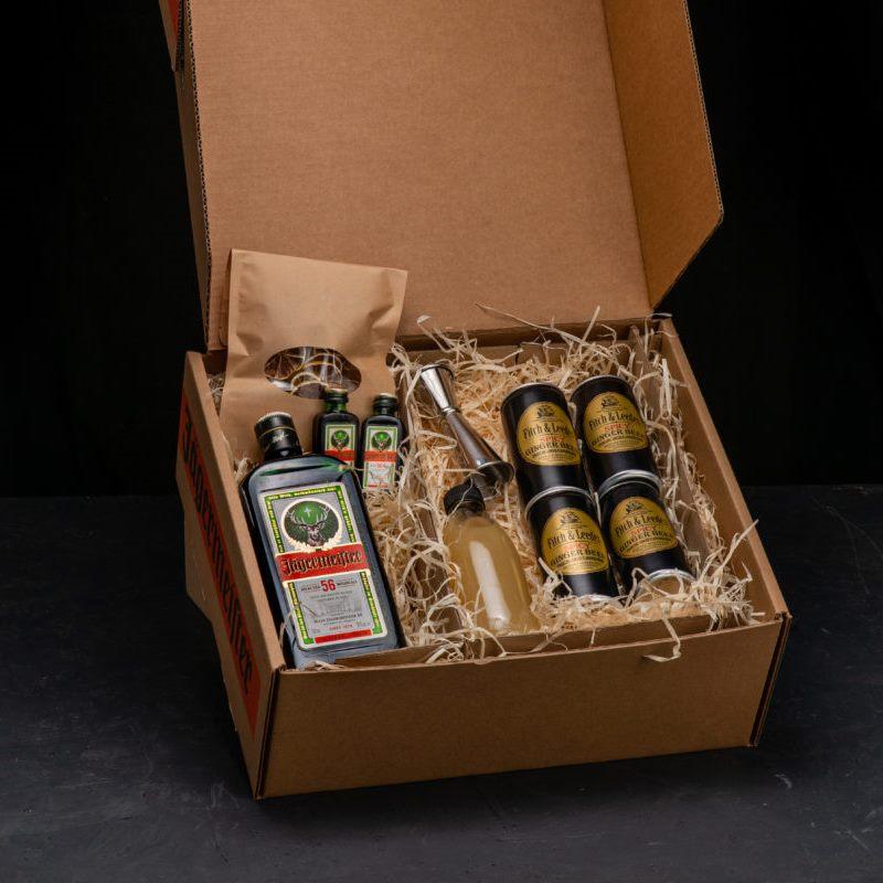 Jägermeister Mule Cocktail Box presentation